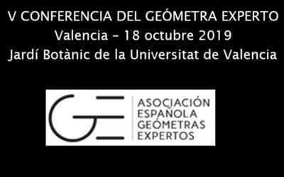 Acto de apertura en la 5ª Conferencia del Geómetra Experto